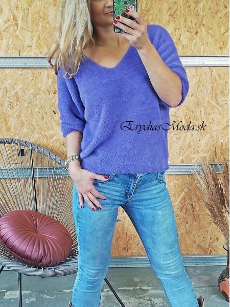 Huňatý pulóver Maxwell fialový 3922