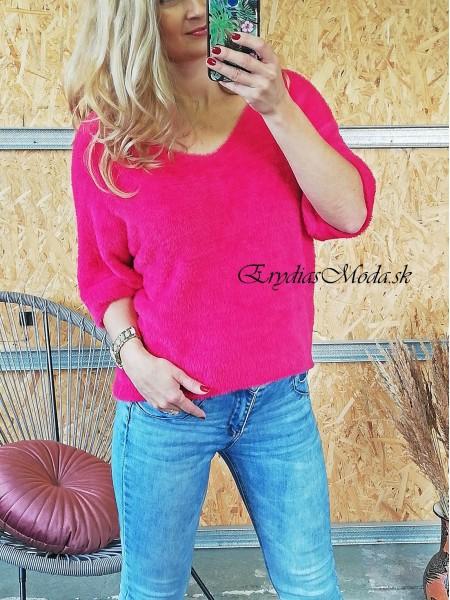 Huňatý pulóver Maxwell ružový 3922
