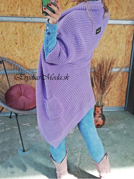 Kardigán pletený fialový Phill 3902
