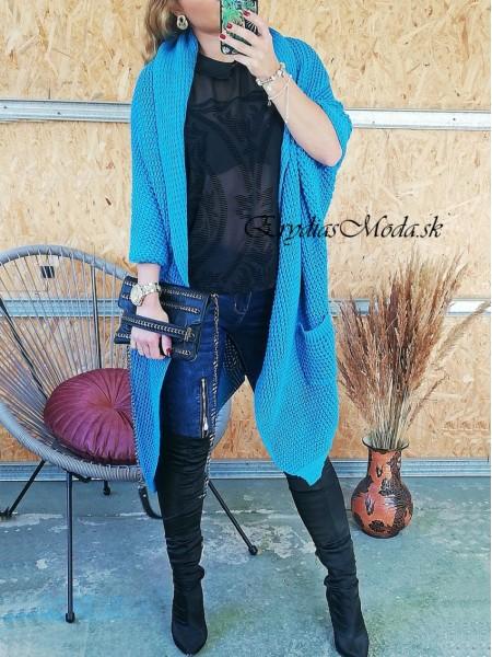 Kardigán pletený modrý Phill 3902