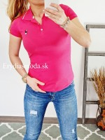 Polo tričko Zaira ružové 8008