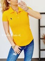 Polo tričko Zaira žlté 8008