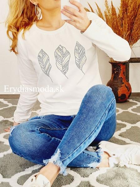 Biele tričko pierka 67457