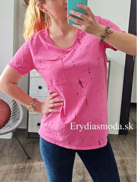 Tričko Hole ružové 20105