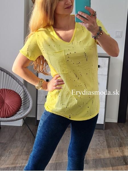 Tričko Hole žlté 20105